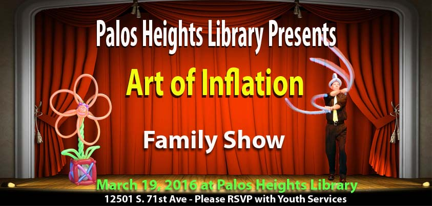 Palos Heights Library Balloon Show Art of Inflation
